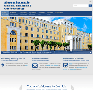 Smolensk State Medical University, Russia (former Academy) Foreign Students Faculty MBBS