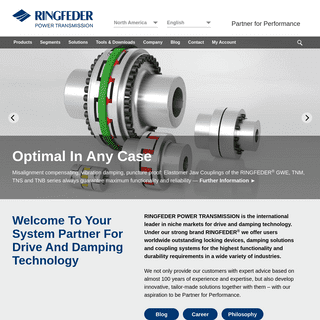 Leading Drive And Damping Technology - RINGFEDER®