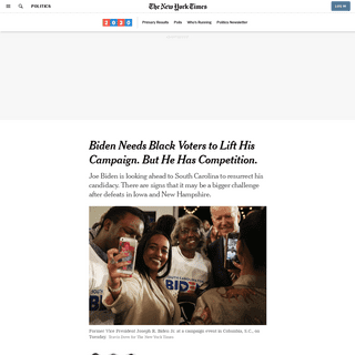 Biden Needs Black Voters to Lift His Campaign. But He Has Competition. - The New York Times