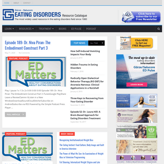 Eating Disorders Catalogue - The most widely used resource in the eating disorders field since 1980