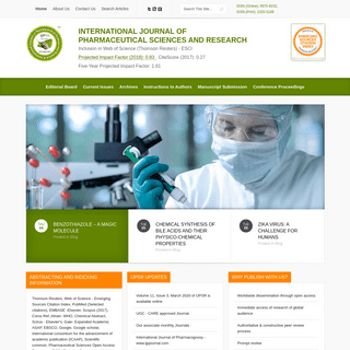 International Journal of Pharmaceutical Sciences and Research (IJPSR)