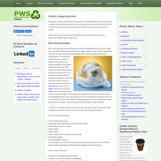 Plastic Waste Solutions - Dr Ross Headifen