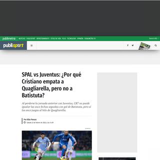 SPAL vs Juventus- ¿Por qué Cristiano empata a Quagliarella, pero no a Batistuta- - Publimetro México