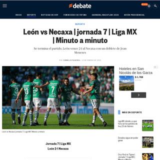 ArchiveBay.com - www.debate.com.mx/deportes/Leon-vs-Necaxa--jornada-7--Liga-MX--Minuto-a-minuto-20200222-0183.html - León vs Necaxa - jornada 7 - Liga MX - Minuto a minuto - EL DEBATE