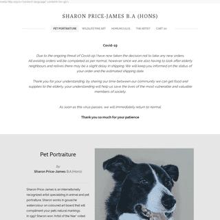 SHARON PRICE-JAMES B.A (HONS) - Pet Portraits