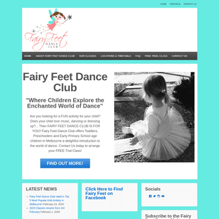 Fairy Feet Dance Club - Dance Classes for Toddlers, Preschool and Early Primary School Aged Children in Melbourne… -Where Chil
