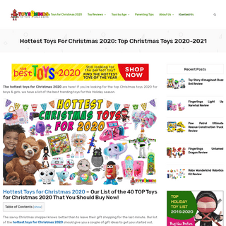 Hottest Toys for Christmas 2020- Top Christmas Toys 2020-2021