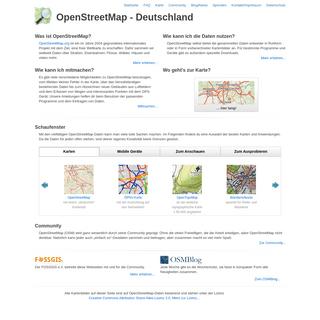 ArchiveBay.com - openstreetmap.de - OpenStreetMap Deutschland- Die freie Wiki-Weltkarte