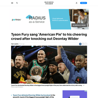 ArchiveBay.com - www.businessinsider.com/video-tyson-fury-knocks-deontay-wilder-american-pie-2020-2 - VIDEO- Tyson Fury knocks out Deontay Wilder then sings 'American Pie' - Business Insider