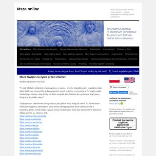 Msze Święte na żywo przez internet - Msza onlineMsza online - Msze święte na żywo przez internet w różnych językach –
