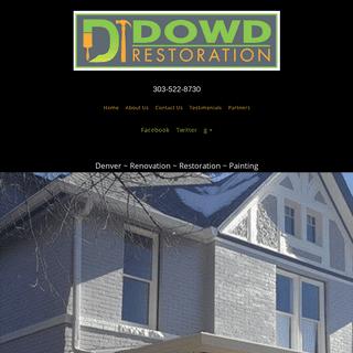DOWD RESTORATION - Denver Painting