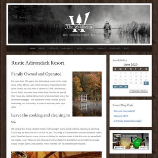Rustic Adirondack Resort - The Waldheim