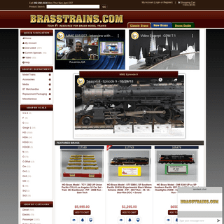 Buy Brass Train Scale Models in HO, O, N, and G Scales - BRASSTRAINS.COM