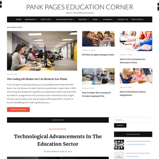 Pank Pages Education Corner - Tips For Fast & Effective Learning