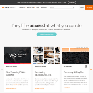 Muse-Themes.com - Adobe Muse Templates - Muse Widgets and Blog