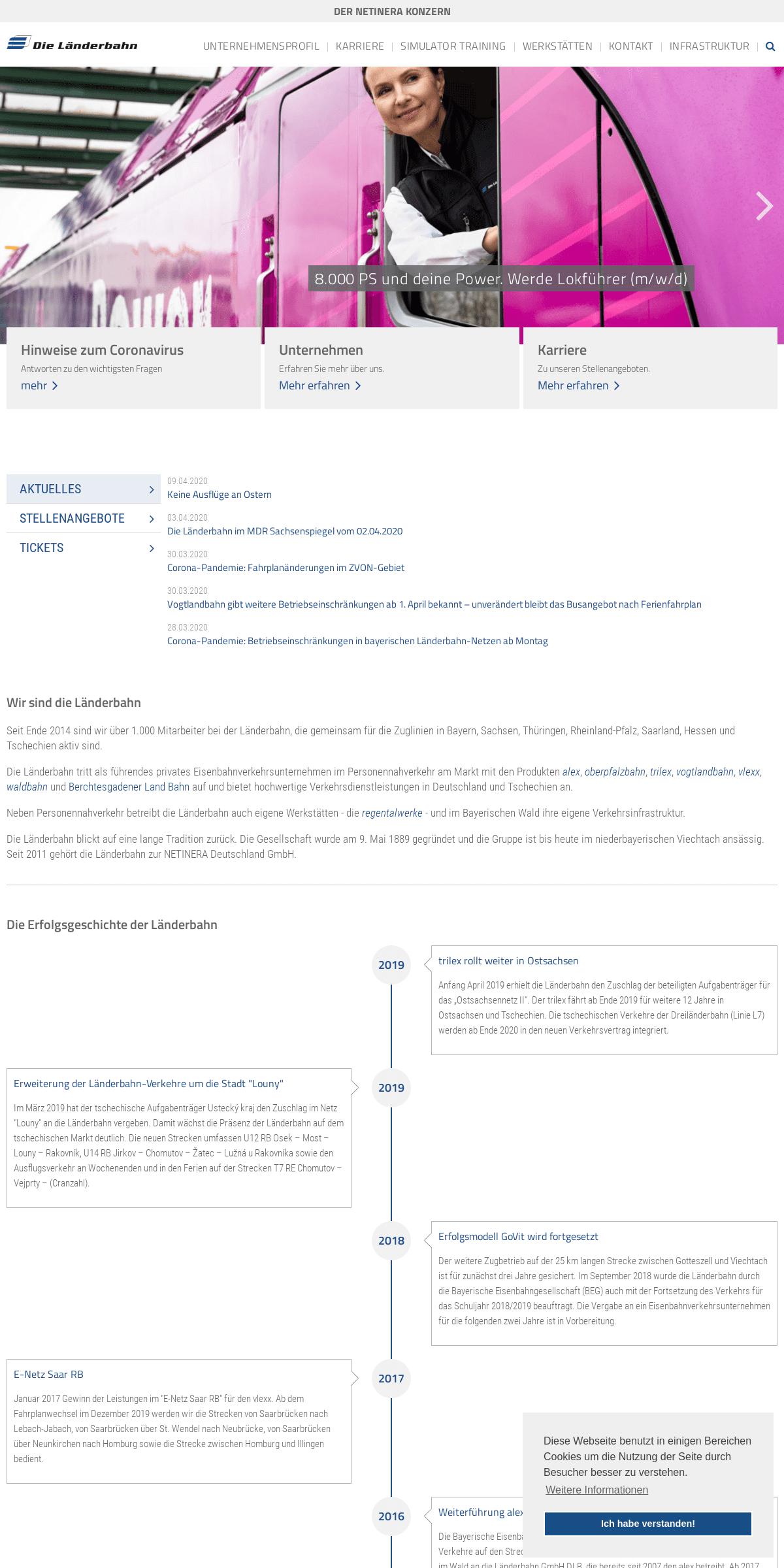 Die Länderbahn - Ein Unternehmen der NETINERA Deutschland GmbH