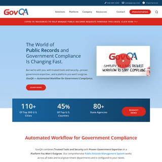 GovQA - Compliance Software for Governments