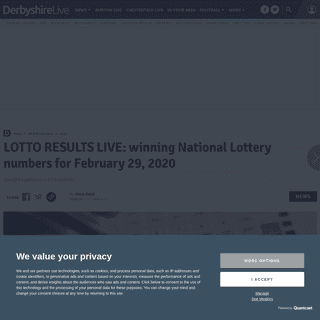 LOTTO RESULTS LIVE- winning National Lottery numbers for February 29, 2020 - Derbyshire Live