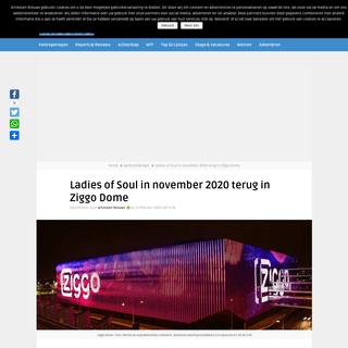 Ladies of Soul in november 2020 terug in Ziggo Dome - Artiesten Nieuws