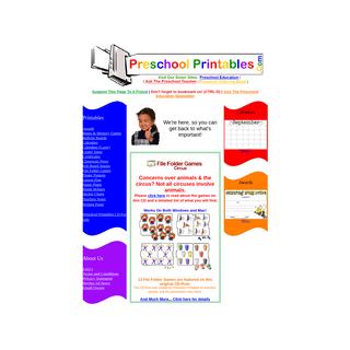 ArchiveBay.com - preschoolprintables.com - Preschool Printables- We're here, so you can get back to what's important!