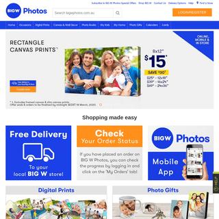 BIG W Photos - Ordering Digital Photo Prints Online – BIGW Photos