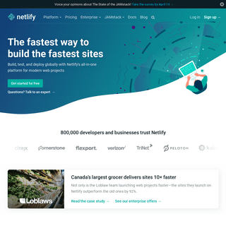 Netlify- All-in-one platform for automating modern web projects