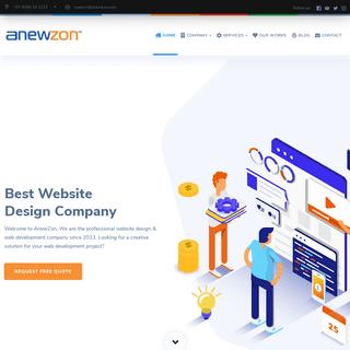 Best Website Design Company in Bhubaneswar Orissa - AnewZon.com