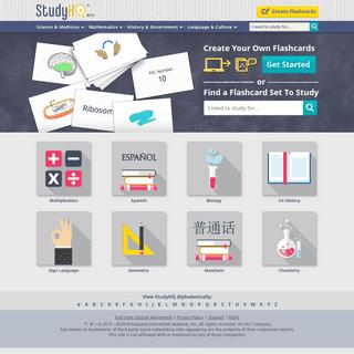 Study and Create Flashcards! - StudyHQ