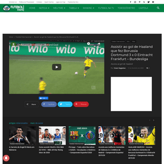 Assistir ao gol de Haaland que fez Borussia Dortmund 3 x 0 Eintracht Frankfurt – Bundesliga - Futebol Stats