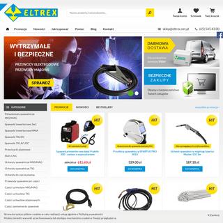 Eltrex.net.pl - Spawalniczy sklep internetowy - migomaty, spawarki tig, części zamienne
