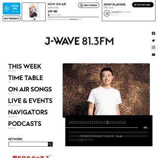 J-WAVE 81.3 FM RADIO WEBSITE