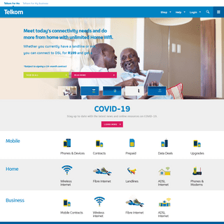 Official Telkom website home page