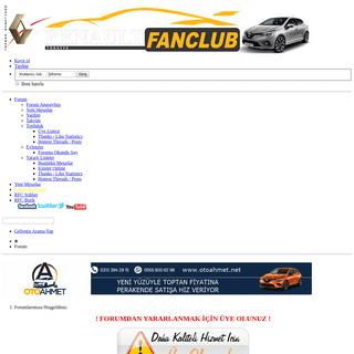 Renault Fan Club - RFC - Renault Türkiye - Renault Teknik Destek - renaultfunclub - Renault Kulübü - Renault Club - Renault F