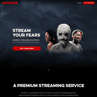 SHUDDER - Stream Horror, Thrillers, and Suspense Ad-Free and Uncut