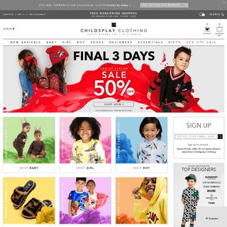 Kids Designer Clothes & Shoes - Childsplay Clothing