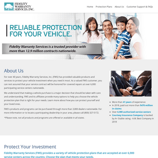 Fidelity Warranty Services -- Home Page