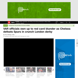 ArchiveBay.com - edition.cnn.com/2020/02/22/football/var-lo-celso-tottenham-chelsea-mourinho/index.html - VAR admits red card blunder as Chelsea beats Tottenham - CNN