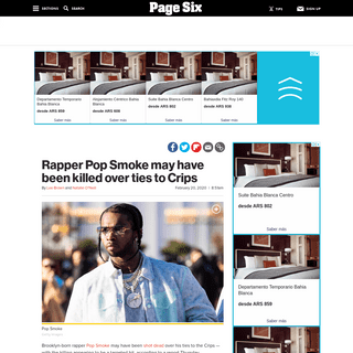 ArchiveBay.com - pagesix.com/2020/02/20/rapper-pop-smoke-reportedly-may-have-been-killed-over-ties-to-crips/ - Rapper Pop Smoke may have been killed over ties to Crips