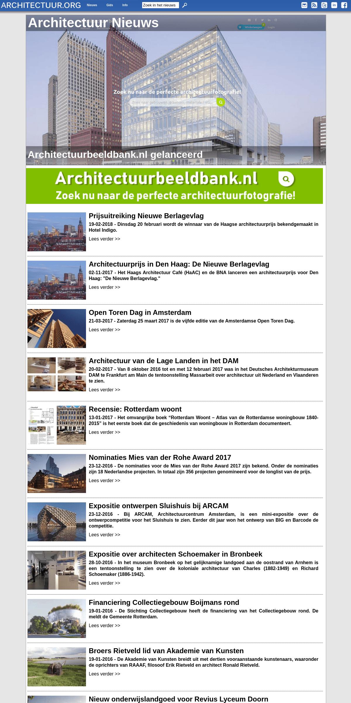 Architectuur Nieuws op Architectuur.ORG - de onafhankelijke architectuurwebsite