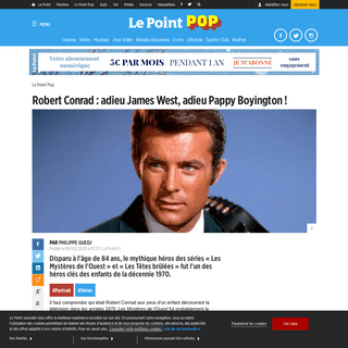 ArchiveBay.com - www.lepoint.fr/pop-culture/robert-conrad-adieu-james-west-adieu-pappy-boyington-09-02-2020-2361892_2920.php - Robert Conrad - adieu James West, adieu Pappy Boyington ! - Le Point