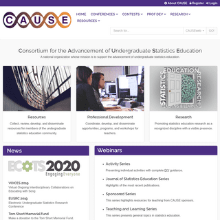 ArchiveBay.com - causeweb.org - CAUSEweb - Consortium for the Advancement of Undergraduate Statistics Education