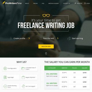 Freelance Writing Jobs At ProWritersTime Academic Writing Service