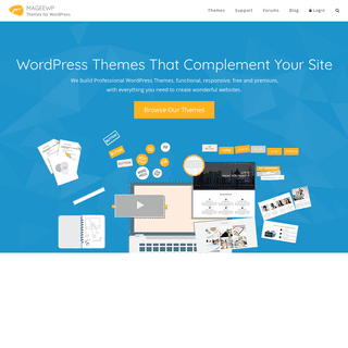 Free WordPress Themes All to Your Needs in 2018 - MageeWP