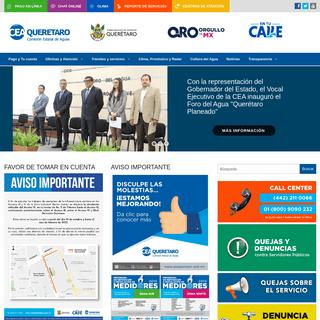 Inicio - Comisión Estatal de Aguas Querétaro