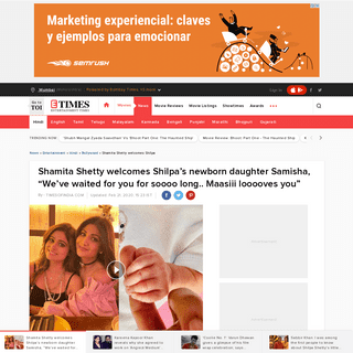 "ArchiveBay.com - timesofindia.indiatimes.com/entertainment/hindi/bollywood/news/shamita-shetty-welcomes-shilpas-newborn-daughter-samiksha-weve-waited-for-you-for-soooo-long-maasiii-looooves-you/articleshow/74240309.cms - Shamita Shetty welcomes Shilpa's newborn daughter Samisha, ""We've waited for you for soooo long.. Maasiii looooves you"""
