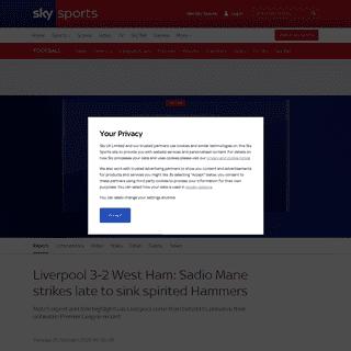 Liverpool 3 - 2 West Ham - Match Report & Highlights