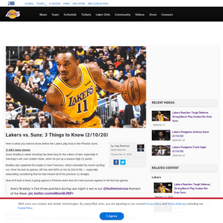 Lakers vs. Suns- 3 Things to Know (2-10-20) - Los Angeles Lakers