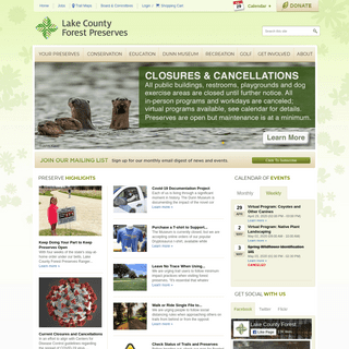 ArchiveBay.com - lcfpd.org - Preserves & Facilities, Recreation, Conservation - Lake County Forest Preserves