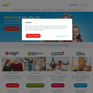 Over 50 Life Insurance, Equity Release, Funeral Plans - SunLife