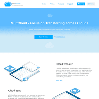 Free Multiple Cloud Storage Manager- Manage Multiple Cloud Storage Accounts - MultCloud